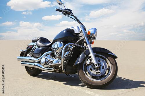 Leinwandbild Motiv motorcycle on asphalt