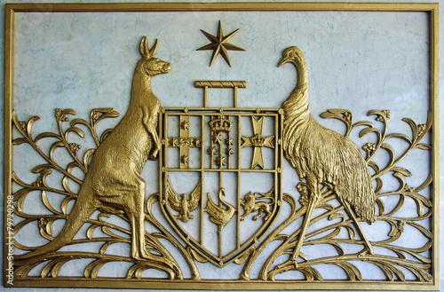 Poster Oceanië Australian Coat of Arms