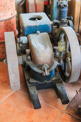 Old engine traction machine
