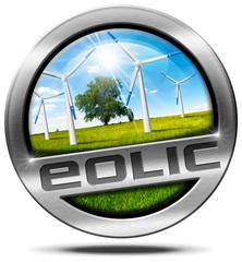 Eolic Energy - Metal Icon