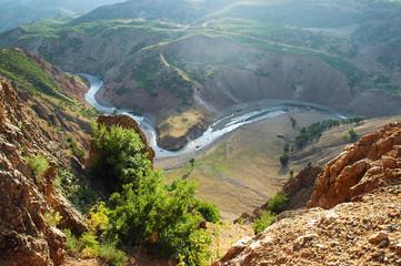 Mountain landscape in Kurdistan, Turkey