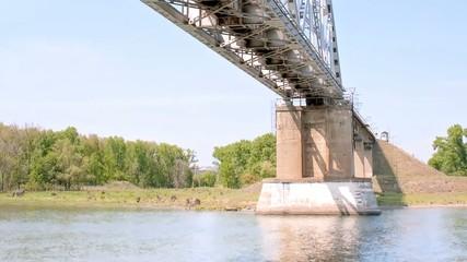 Railway bridge through the river Don