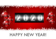 2020 happy new year illustration with counter