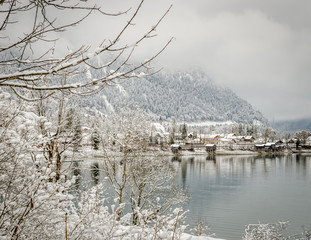 Winter in the alps, Walchensee, Germany