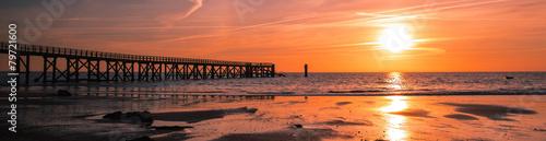 Leinwanddruck Bild panorama estacade Noirmoutier