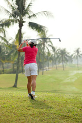 Player on the golf course