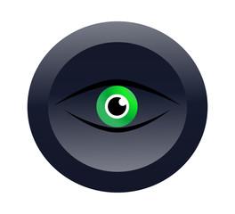 Векторная иконка с изображением зеленого глаза