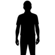 Silhouette man isolated on white background - 79722457