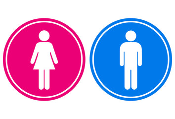 Man and woman sign