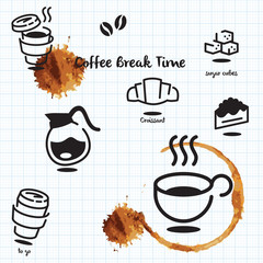 coffee brack time set a