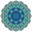 Colorful, vector mandala in blue tones. - 79722828