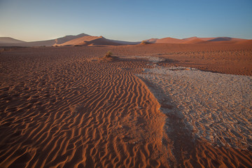 cracked soil, Sossusvlei, Namibia