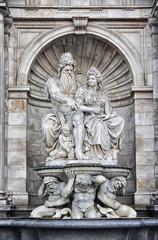 Neptune Fountain in Albertina Museum Palace, Vienna