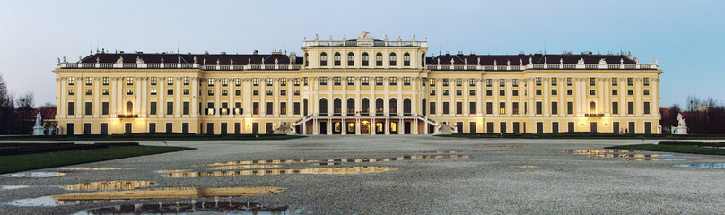 Schonbrunn Palace in Vienna, Austria in early Winter