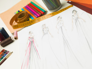 evening gowns fashion concept