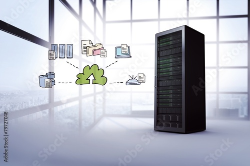 Composite image of cloud computing doodle - 79727048