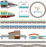 電車と駅の素材