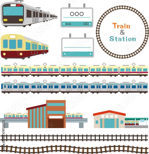 電車と駅の素材 - 79728073