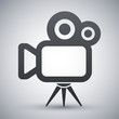 Vector movie camera icon - 79728253