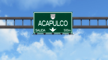 Acapulco Highway Road Sign