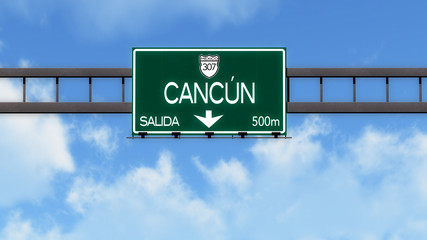 Cancun Highway Road Sign