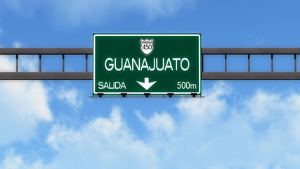 Guanajuato Highway Road Sign