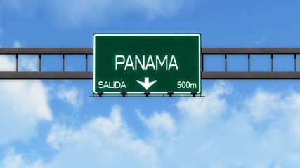 Panama Highway Road Sign