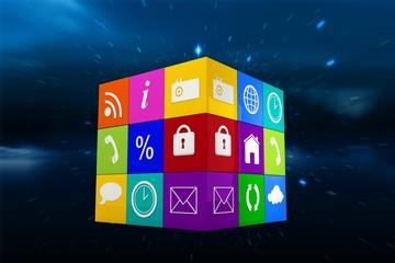 Composite image of app cube