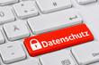 Tastatur mit farbiger Taste - Datenschutz - 79729651