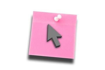 Composite image of arrow