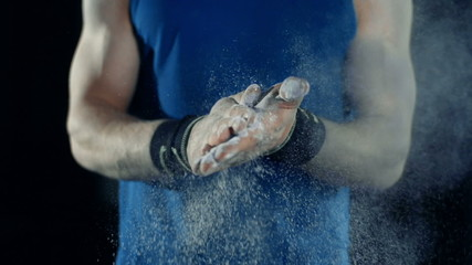 Powdering Hands