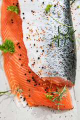 Two Salmon Fillets with Herbs