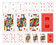 Bridge size Diamond playing cards plus reverse - 79730452
