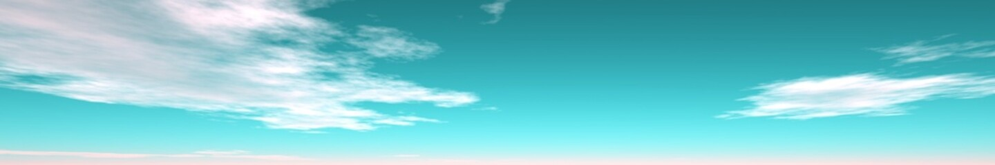 panorama of blue sky with clouds