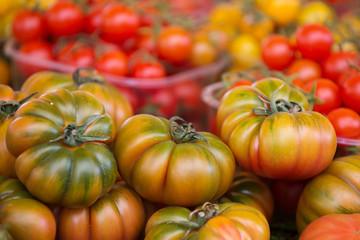 Ripe tomatoes in Campo De Fiori street market, Rome