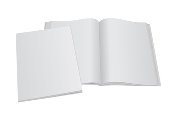 blank magazine template with cover