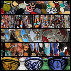 Collage mit Kunst aus dem Orient