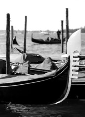gondolas on the water in venice italy