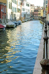 navigable canal in venice in italy