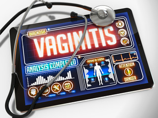 Vaginitis on the Display of Medical Tablet.