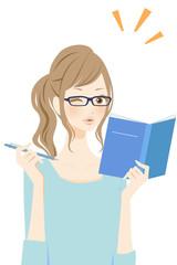 勉強する女性 自信