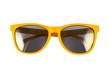 Leinwanddruck Bild - Yellow sun glasses isolated