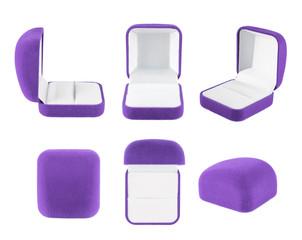 Velvet box for the ring isolated