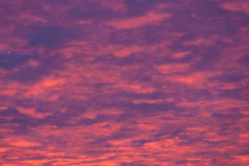 Vibrant purple clouds sunset