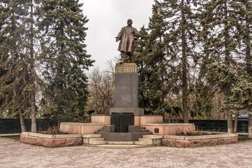 Lenin statue in a park in Russia