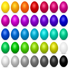 Collection of colorful Easter eggs