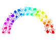 Regenbogen aus bunten Handabdrücken