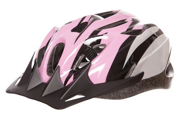 pink womens cycling helmet