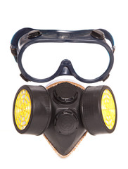 chemical industrial gas mask and goggles