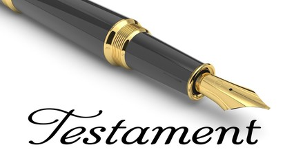 Testament word and pen